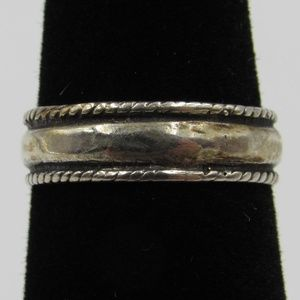 Vintage Size 3.75 Sterling Dainty Rustic Open Ring